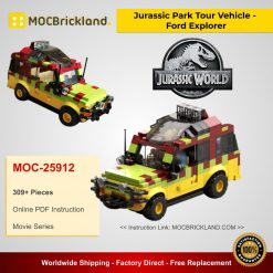 Jurassic Park Tour Vehicle - Ford Explorer MOC 25912 Movie Designed By Miro With 309 Pieces