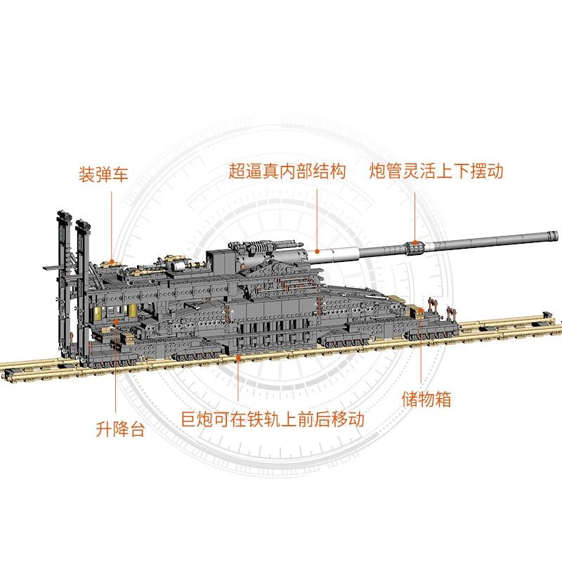 KAZI KY10005 German 80cm K[E] Railway Gun