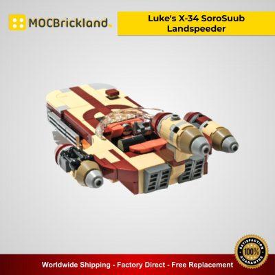 Luke's X-34 SoroSuub Landspeeder MOC 41385 Star Wars Designed By Vostroyan