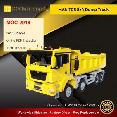MAN TGS 8x4 Dump Truck MOC 2918 Technic Designed By M_longer With 2413 Pieces