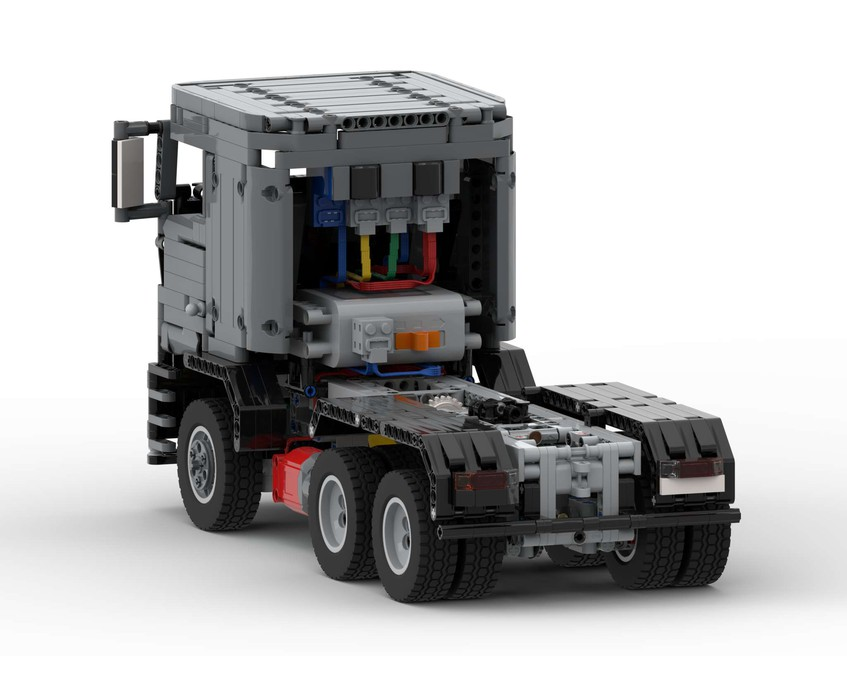 MAN TGS TRUCK MOC 37560 Technic Designed By Technic_Fox.it With 1215 Pieces