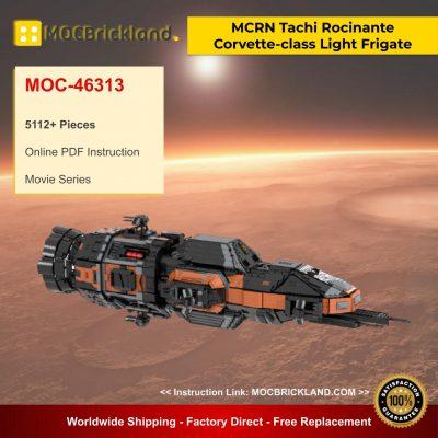MCRN Tachi Rocinante Corvette-class Light Frigate ECF-270 MOC 46313 Movie Designed By Brickgloria With 5112 Pieces