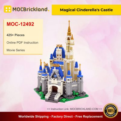 Magical Cinderella's Castle MOC 12492 Movie Designed By Buildbetterbricks With 425 Pieces