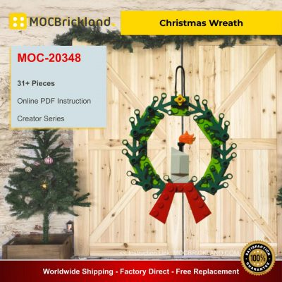 Christmas Wreath MOC 20348 Creator Designed By KarolWes With 31 Pieces