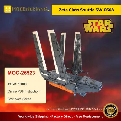 Zeta Class Shuttle SW-0608 MOC 26523 Star Wars Designed By Renegade369 With 1612 Pieces