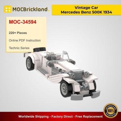 Vintage Car - Mercedes Benz 500K 1934 MOC 34594 Technic Designed By SugarBricks With 220 Pieces