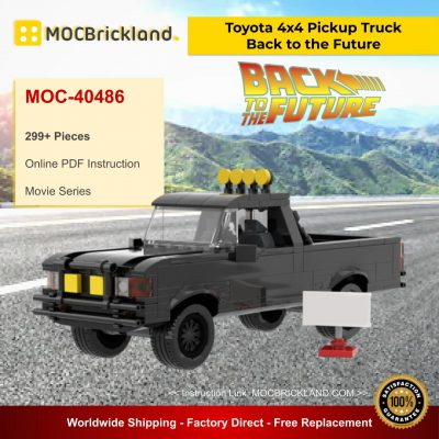Back to the Future Toyota 4x4 Pickup Truck MOC 40486 Movie Designed By Mkibs With 299 Pieces