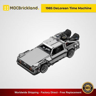 Back to the Future 1985 DeLorean Time Machine MOC 42632 Movie Designed By Luissaladrigas With 2583 Pieces