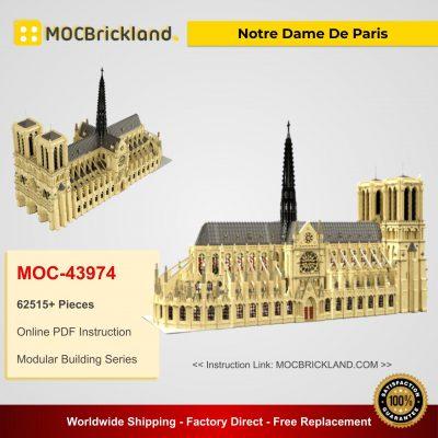 Notre Dame De Paris MOC 43974 Modular Building Designed By STEBRICK With 62515 Pieces