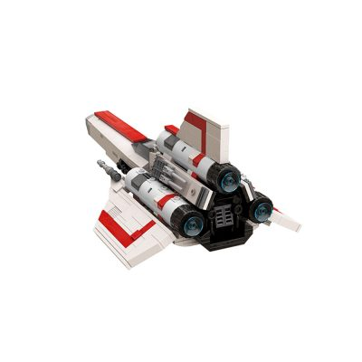 Colonial Viper MK1 – Version 2.0 Space MOC-45112 by apenello WITH 612 PIECES