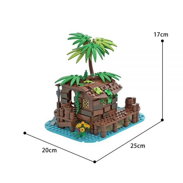 Pirate Shed / 21322 Barracuda Bay extension Creator MOC-71229 by maniu_81 WITH 166 PIECES
