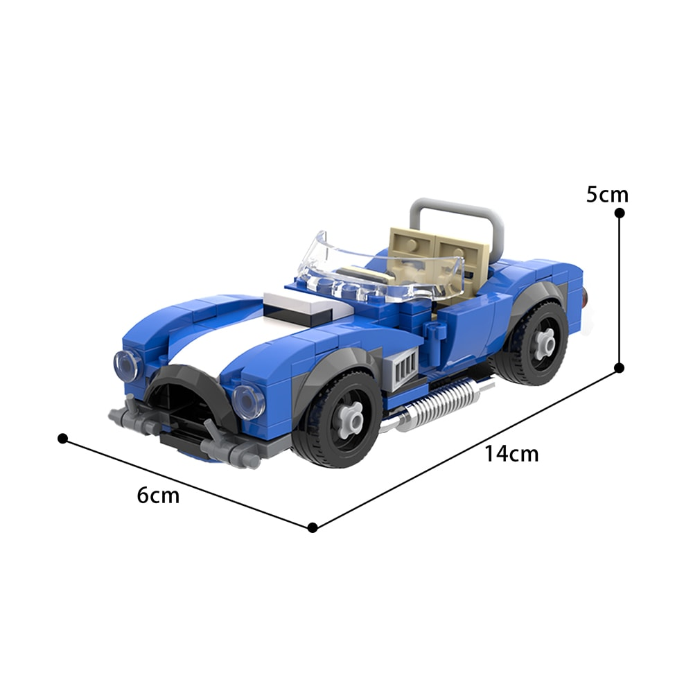 AC Cobra Shelby Widescreen Technic MOC-71340 by billyballokarlo WITH 173 PIECES