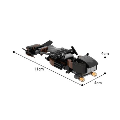 Scout Trooper Speeder Bike Star Wars MOC-71683 by beardLB WITH 85 PIECES