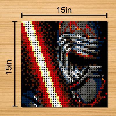 Kyloren Pixel Art Star Wars MOC-90132 with 2304 pieces