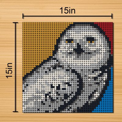 Harry Potter Owl Pixel Art Movie MOC-90140 with 2304 pieces