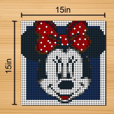 Minnie Mouse Pixel Art Movie MOC-90141 with 2304 pieces