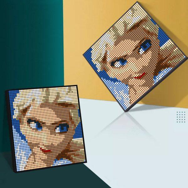 Frozen Elsa Pixel Art Movie MOC-90147 WITH 2304 PIECES