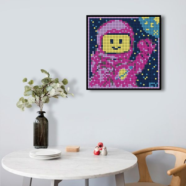Spaceman Pixel Art Space MOC-90153 WITH 2304 PIECES