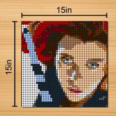 Black Widow Pixel Art Movie MOC-90156 WITH 2304 PIECES