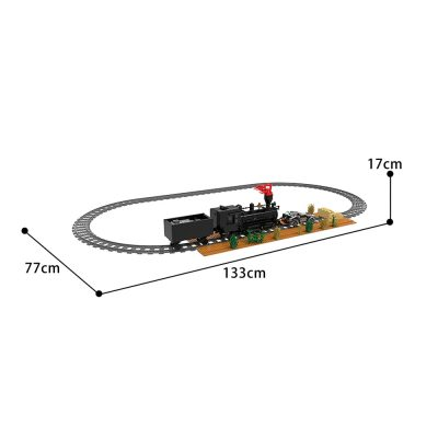 Back to the future Train scene Movie MOC-90176 WITH 1015 PIECES