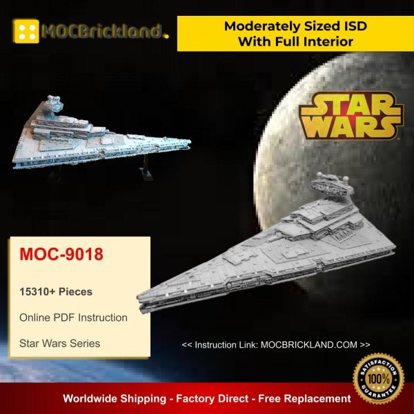 Moderately Sized ISD With Full Interior MOC 9018 Star Wars Designed By Raskolnikov With 15310 Pieces