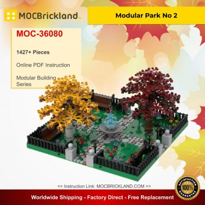 Modular Park No 2 - 4 sides connection MOC 36080 Modular Building Designed By Gabizon With 1427 Pieces