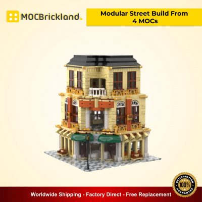 Modular Street Build From 4 MOCs MOC 33843 City Designed By Gabizon With 6824 Pieces