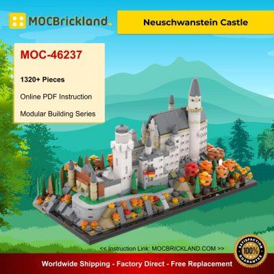Neuschwanstein Castle MOC 46237 Modular Building Designed By Benbuildslego With 1320 Pieces