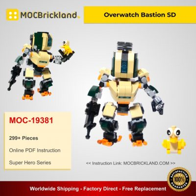 Overwatch Bastion SD MOC 19381 Super Hero Designed By Frenchybricks With 299 Pieces