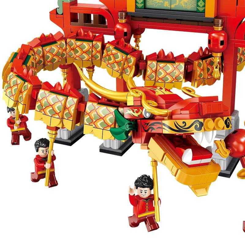PANLOSBRICK 610006 New Year Dragon Dance