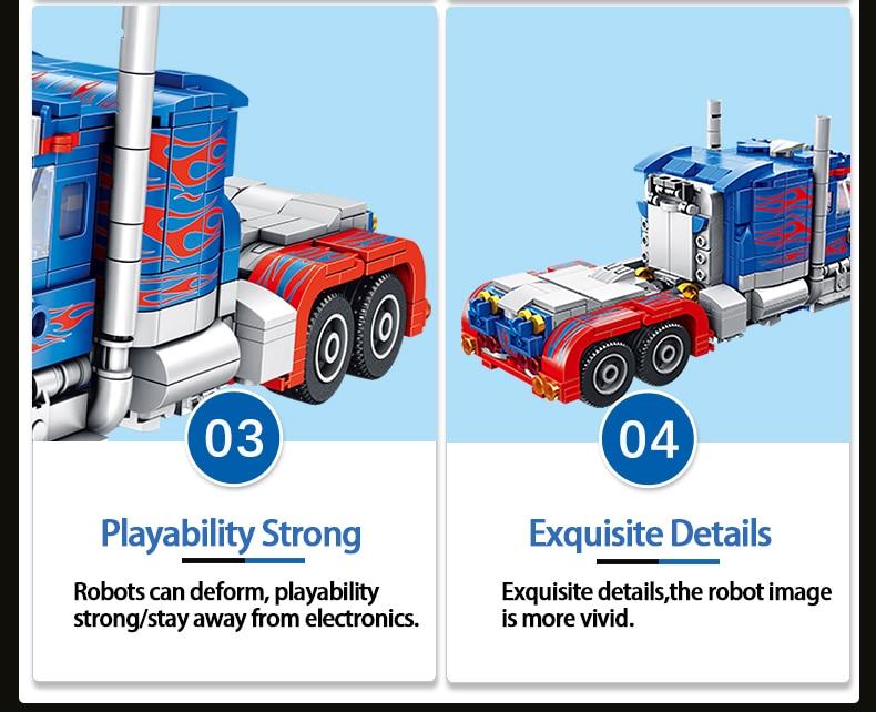 PANLOSBRICK 621018 Transformerd Robot 2in1