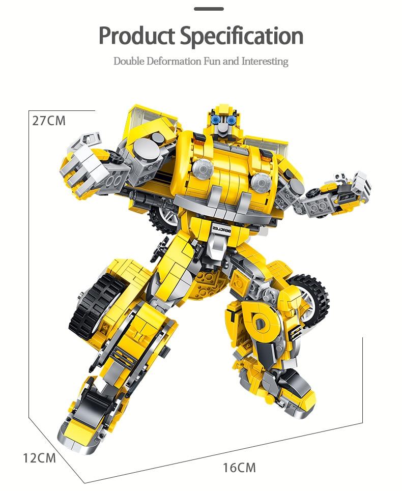 PANLOSBRICK 621019 Robot 8in1 Transformers Bumblebee