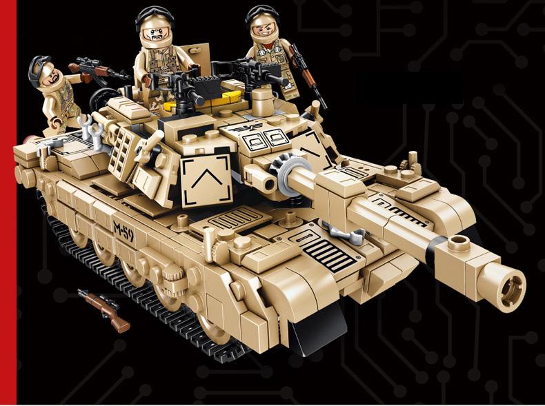 PANLOSBRICK 621020 Super Deformation:M1A2 Main Battle Tank