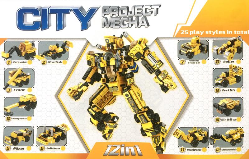PANLOSBRICK 633008 City Project Mecha 12 in 1