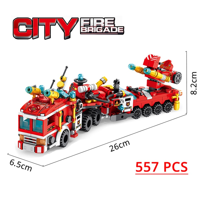 PANLOSBRICK 633009 City Fire Brigade 12 in 1