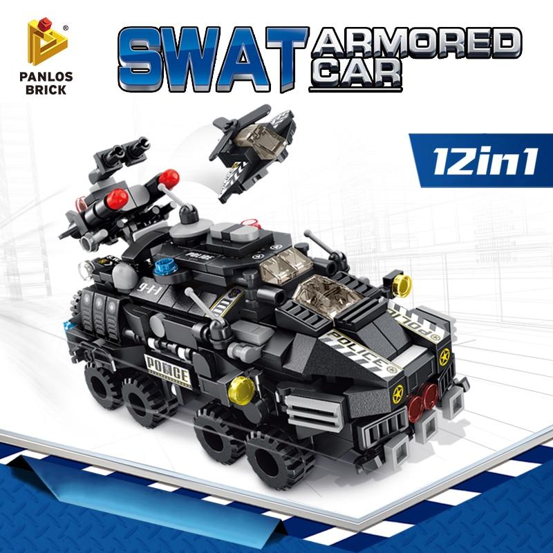 PANLOSBRICK 633010 SWAT Armored Car 12 in 1