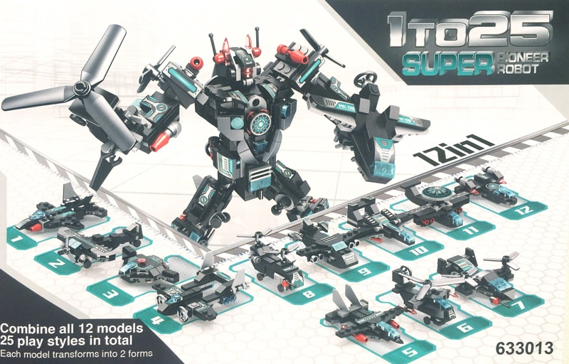 PANLOSBRICK 633013 Super Poineer Robot 12 in 1