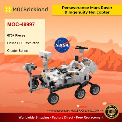 Perseverance Mars Rover and Ingenuity Helicopter - NASA MOC 48997 Creator Designed By YCBricks
