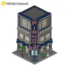 Piano Bar MOC 11036 Modular Building designed By BrickVice With 3116 Pieces