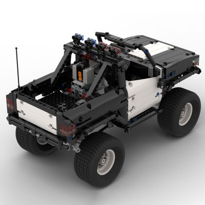 Police Pickup 4×4 Technic MOC-25336 by Steelman14a with 1204 Pieces