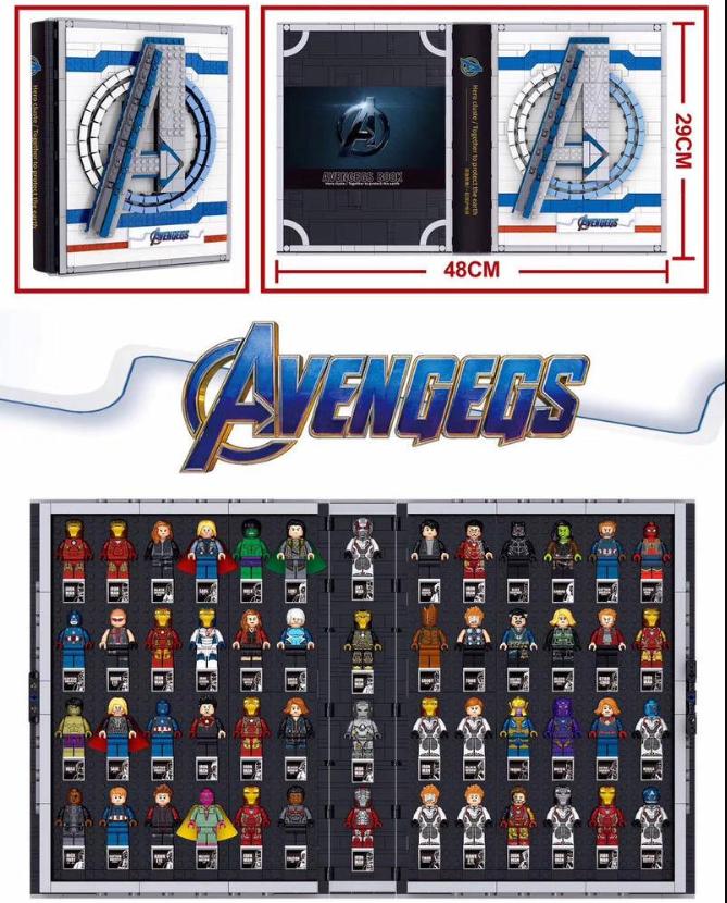 PRCK 64075 Avengers Collection Book Building Block