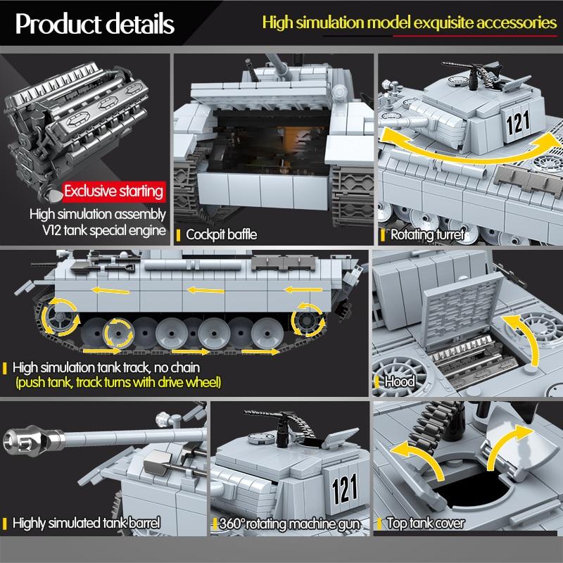 QUANGUAN 100064 Panther Tank 121