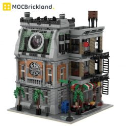 Sanctum Sanctorum MOC 37592 Modular Building Designed By ZeRadman With 3439 Pieces