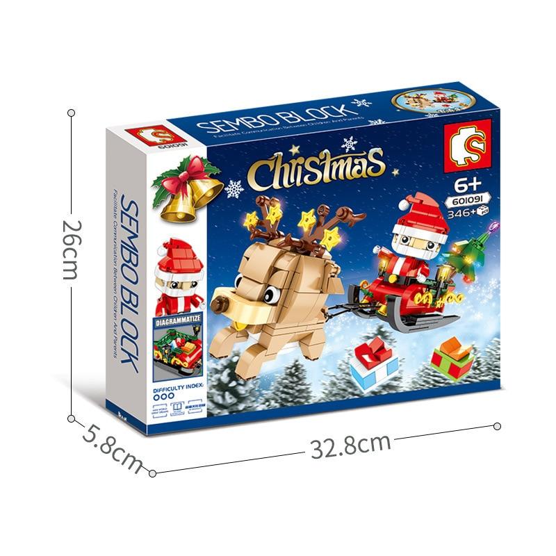 SEMBO 601091 Christmas Santa Claus and Reindeer