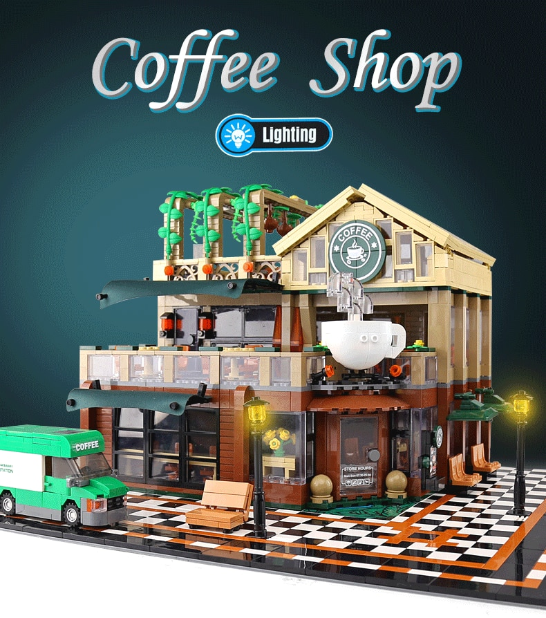 SEMBO 601093 Casual Coffee Shop with LED light