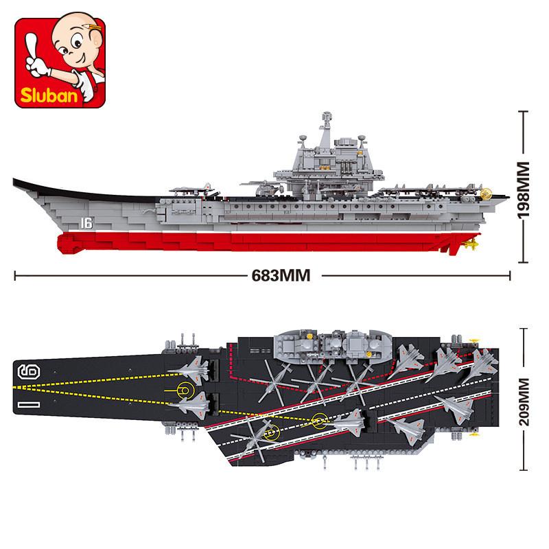 Sluban M38-B0399 Aircraft carrier Liaoning 1:450
