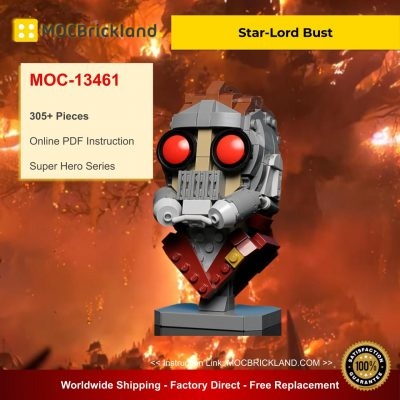 Star-Lord Bust MOC 13461 Super Hero Designed By Buildbetterbricks With 305 Pieces