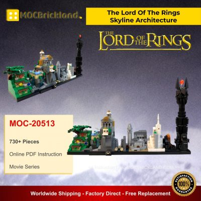 The Lord Of The Rings - Skyline Architecture MOC 20513 Movie Designed By MOMAtteo79 With 730 Pieces