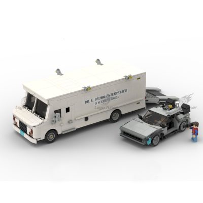 Time Machine and Doc Brown Van MOC-58775 Movie Designed by legotuner33 with 1046 Pieces