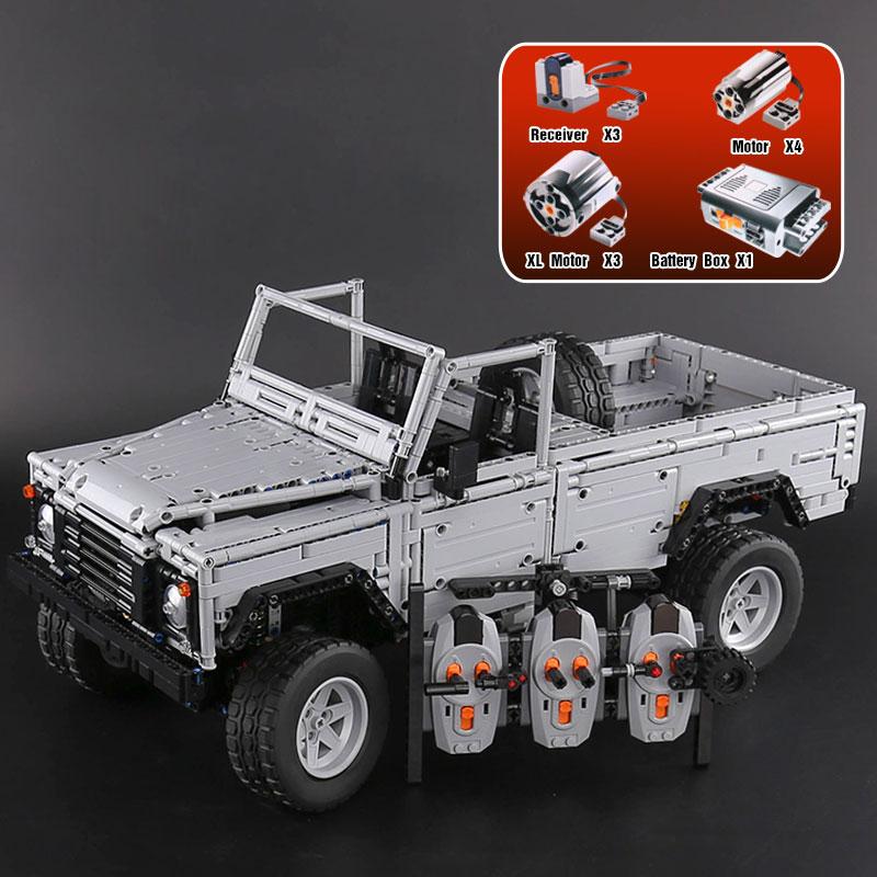 Rebrickable MOC-30043 Lan-Rover Defender 110
